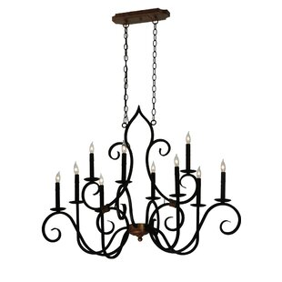 Meyda Tiffany Greenbriar Oak Clifton 10-Light Chandelier