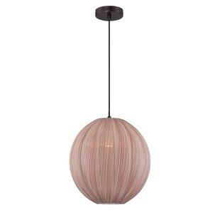 Clinger 1-Light Globe Pendant by Mercer41