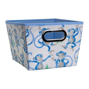 Cheeky Monkey Fabric Cube or Bin by Laura Ashley