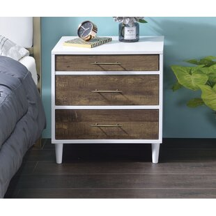 Online Reviews Brimmer 3 Drawer Nightstand by George Oliver