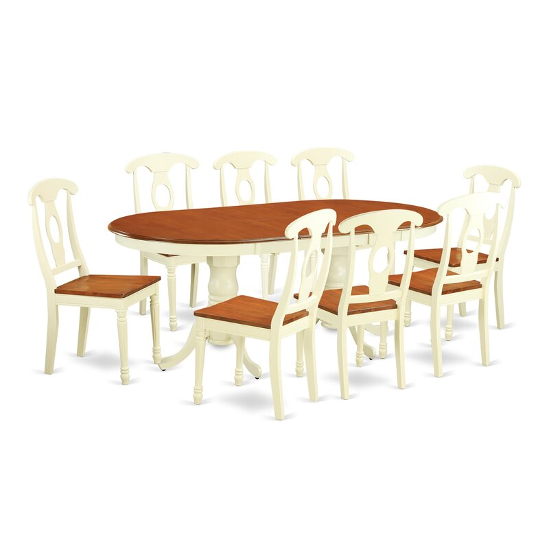August Grove Pilcher Extendable Solid Wood Dining Set Reviews Wayfair
