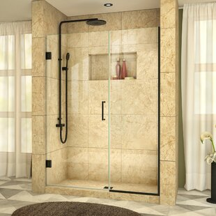 Buy luxury Unidoor Plus 60 x 72 Hinged Frameless Shower Door with Clearmax™ Technology By DreamLine