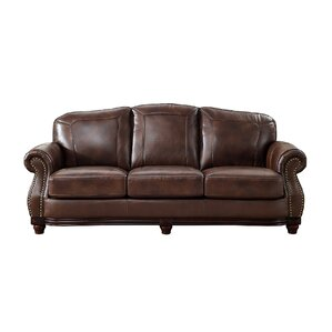 Mendenhall Leather 3 Piece Living Room Set by Three Posts