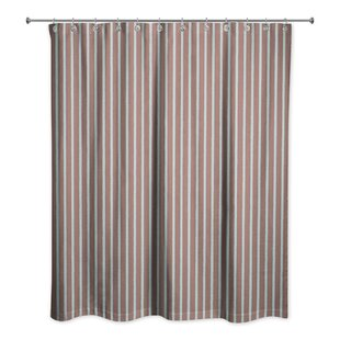Reviews Mathes Stripe Shower Curtain By Winston Porter