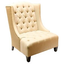 Ryegate Linen and Euro Burlap Wingback Chair by House of Hampton