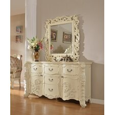 Miller 5 Drawer Combo Dresser with Mirror by Rosdorf Park