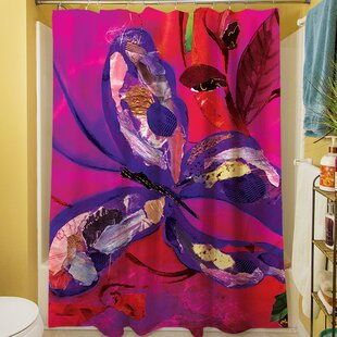 Butterfly Shower Curtain by Manual Woodworkers & Weavers
