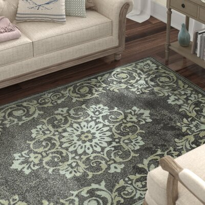 "Lark Manor Charroux Grey Area Rug Rug Size: Rectangle 8'2"" x 10'"