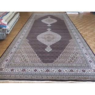 Look for One-of-a-Kind Beaton Hand-Knotted Black Area Rug By Isabelline