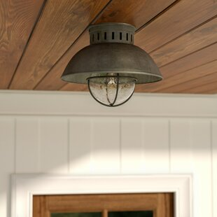 Archibald 1-Light Outdoor Semi Flush Mount