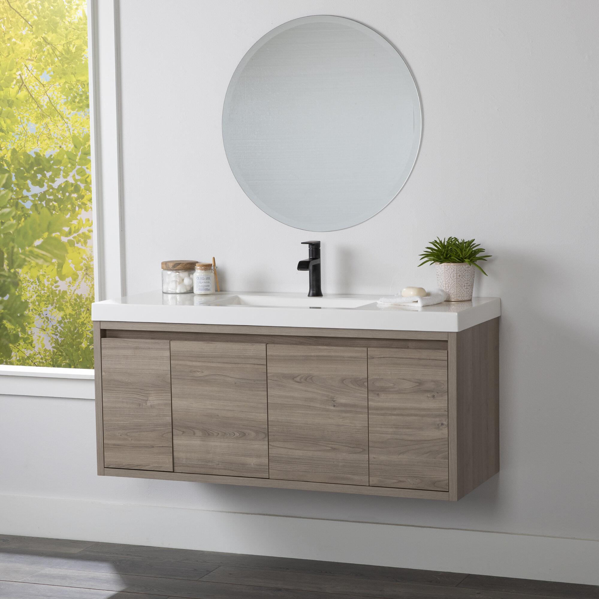 Wall Mounted Floating Wood Bathroom Vanities You Ll Love In 2021 Wayfair