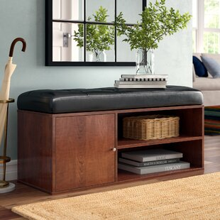 Affordable Price Houston Faux Leather Storage Bench By Andover Mills
