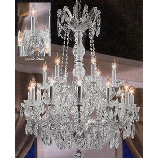Keenum 18-Light Candle Style Chandelier b..
