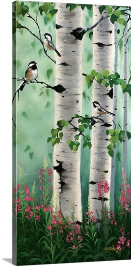Framed Birch Tree Paintings Wayfair