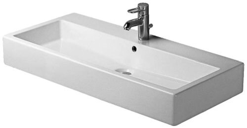 Duravit Vero Ceramic Rectangular Wall Mount Bathroom Sink With Overflow Reviews Wayfair