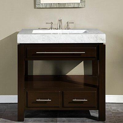 """36 Bathroom Vanity silkroad exclusive stanton 36"""" single bathroom vanity set"""