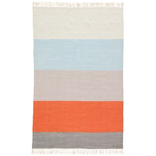 Tahoe Handwoven Flatweave Orange Indoor/Outdoor Area Rug