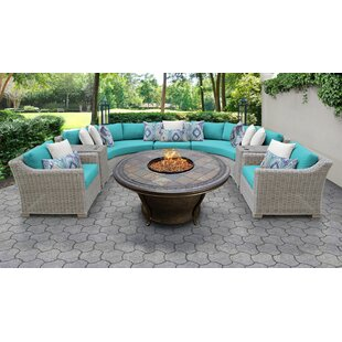 Coast Outdoor 8 Piece Sectional Seating Group With Cushions by TK Classics Wonderful