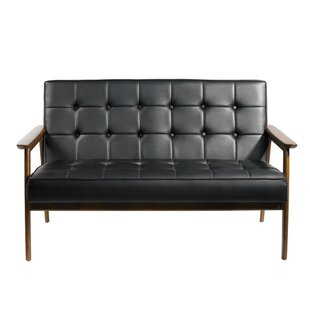 Tufted Leather Loveseat by Mod Made