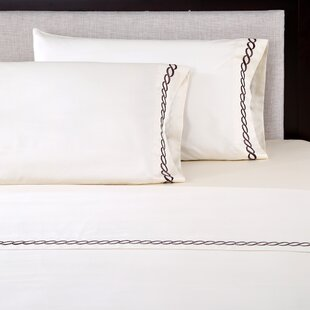 Best Price 4 Piece 600 Thread Count 100% Cotton Embroidered Sheet Set ByAffluence Home Fashions