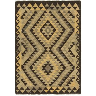 Inexpensive One-of-a-Kind Lorain Hand-Knotted 2'9 x 4' Wool Brown/Black Area Rug By Isabelline