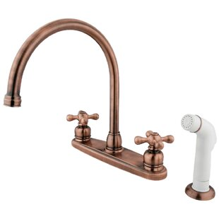 Centerset Double Handle Kitchen Faucet with Side Spray