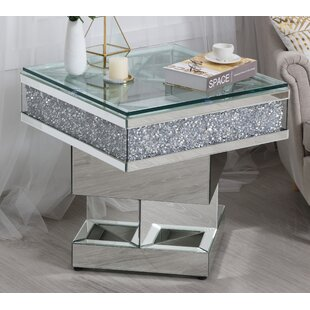 Abella Mirrored End Table