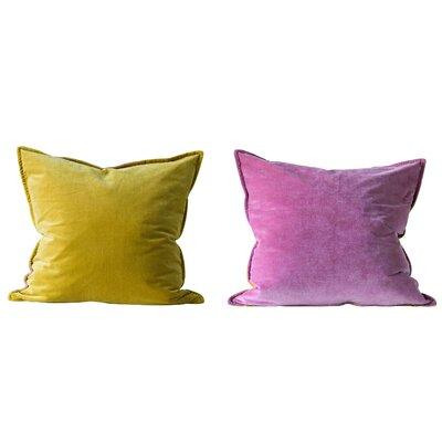 Bungalow Rose Kerlin Mustard & Rose Reversible Throw Pillow