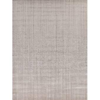 Exquisite Rugs Smart Gem Handwoven Wool Silk Gray Area Rug Perigold
