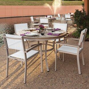 Latitude Run Farmington 5 Piece Tekwood Dining Set with Stackable Chairs