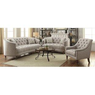 Rosdorf Park Lenum 3 Piece Living Room Set