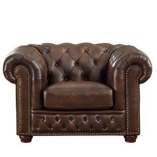 Trent Austin Design Worcester Leather Chesterfield Chair