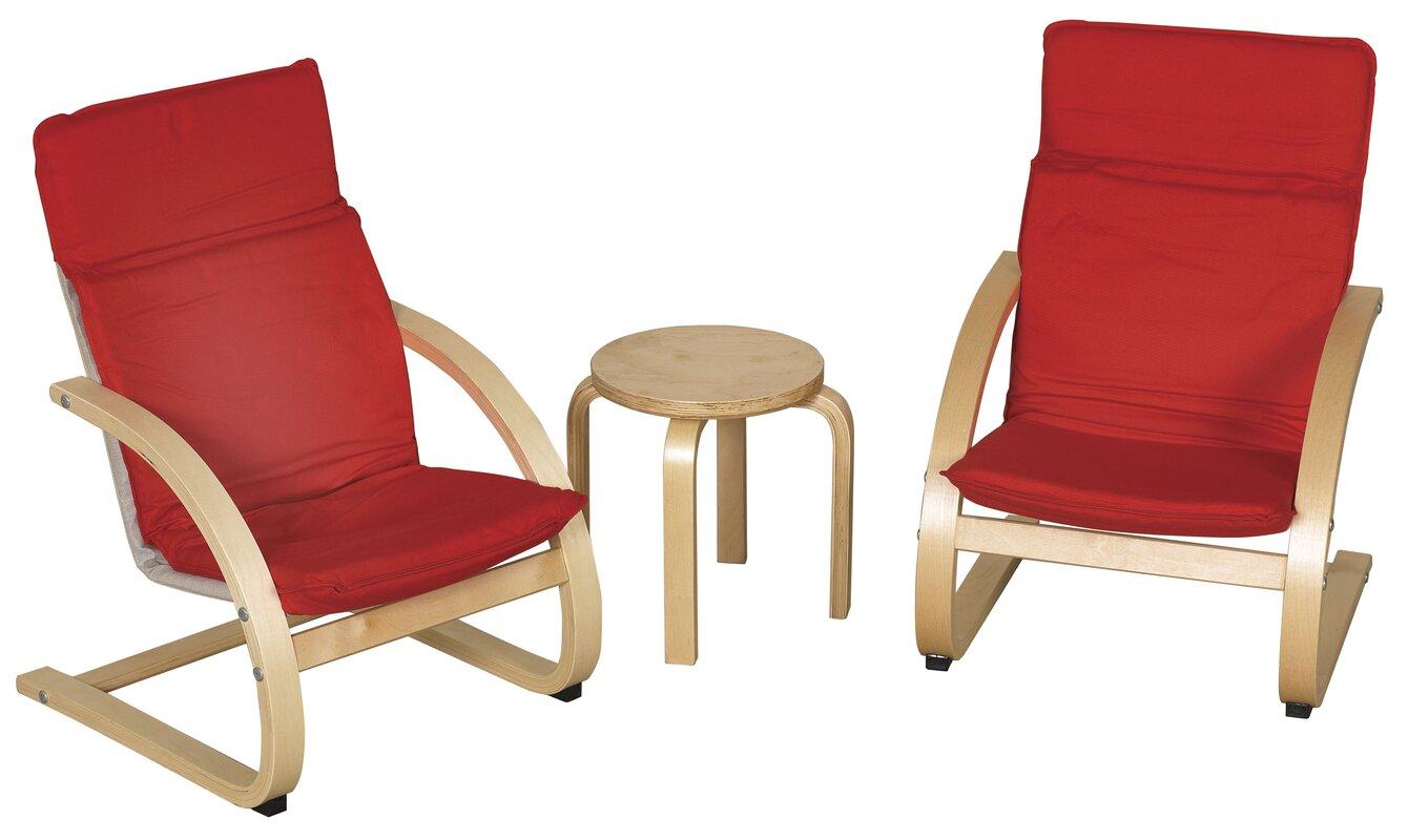 3 Piece Kids Table & Chair Set