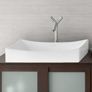 Ronbow Ceramic Rectangular Vessel Bathroom Sink