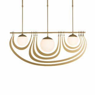 Everly Quinn Kunze 3-Light Kitchen Island Pendant