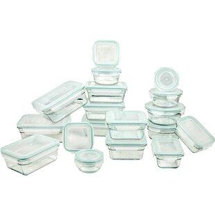 Tempered Glasslock 18 Container Food Storage Set