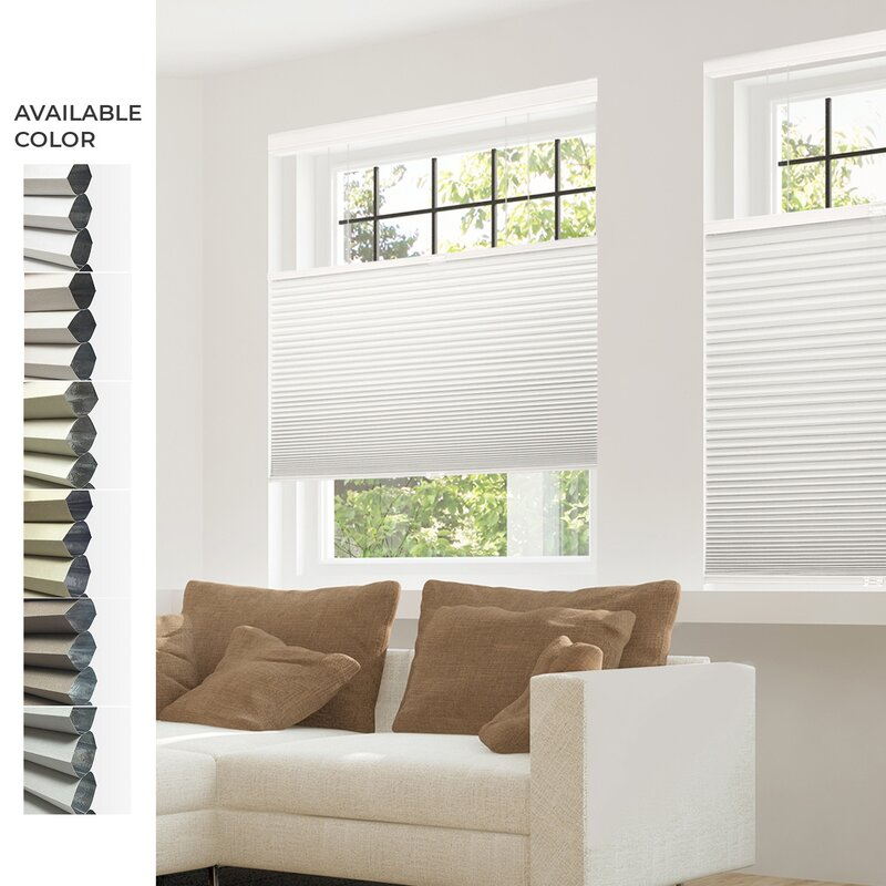 Privacy /& Light Filtering CHICOLOGY Custom Cordless Cellular Shades,White Dove Inside Mount,W:58 xH:72