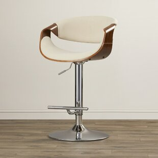 Auburn Adjustable Height Swivel Bar Stool by Langley Street