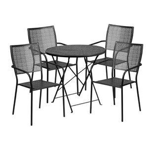 Speegle Outdoor Steel 5 Piece Dining Set