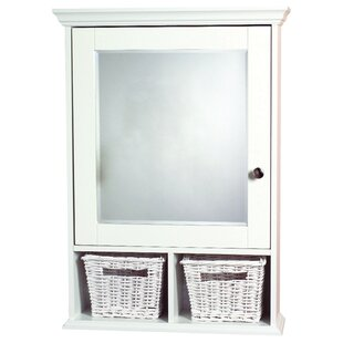 Price Check 20.75 x 29 Surface Mount Framed Medicine Cabinet with 2 Adjustable Shelves By Zenith Products