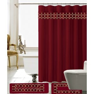 Avelaine Shower Curtain SetMaroon Shower Curtain   Wayfair. Maroon Shower Curtain Set. Home Design Ideas