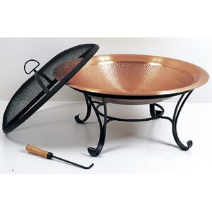 Copper Plated Steel Wood Burning Fire Pit