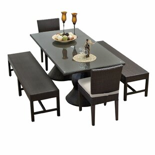 TK Classics Napa 5 Piece Dining Set with Cushions