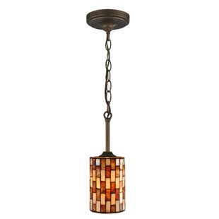 Pendant light with chain wayfair myraid chain 1 light cylinder pendant aloadofball Image collections