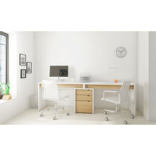 Second Avenue Home Office Desk 3 Piece Set by Ebern Designs Today Only Sale