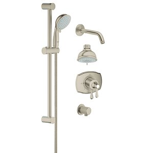 grohflex pressure balance tub and shower faucet - Shower Faucets