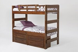 Compare prices Twin over Twin Bunk Bed with Storage By Chelsea Home