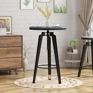 Dortch Adjustable Height Swivel Pub Table by Ebern Designs