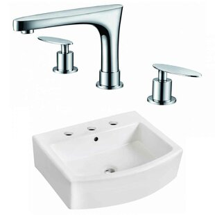 Affordable Ceramic Rectangular Bathroom Sink with Faucet and Overflow By American Imaginations