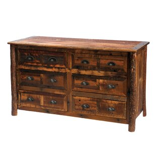 Purchase Value Barnwood 6 Drawer Double Dresser by Fireside Lodge